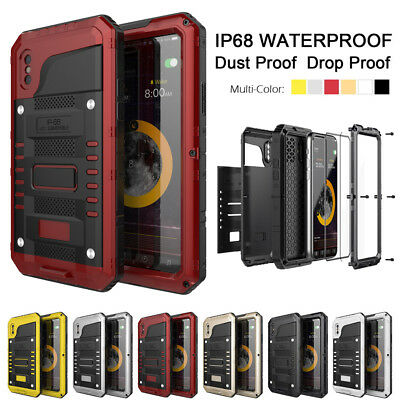 For iPhone X XS 8 8Plus Aluminum Waterproof Metal Armor Shockproof LUPHIE Case