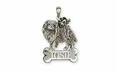 Japanese Chin Angel Angel Personalized Pendant Jewelry Sterling Silver Handmade