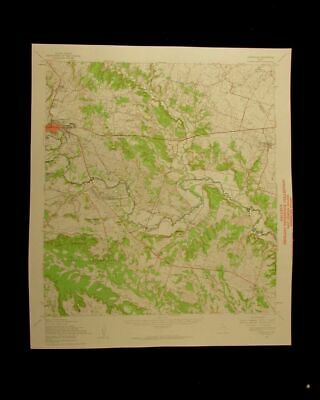 Gatesville Texas 1962 vintage USGS Topographical chart map