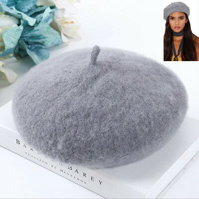 New Wool Warm Winter Baggy Classic French Fluffy Beanie Beret Hat