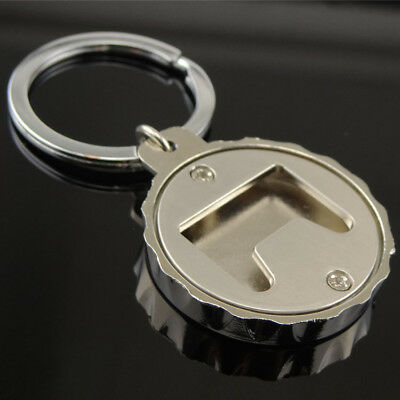 Creative Beer Bottle Cap-Shaped Advertising Bottle Opener Keychain Gift