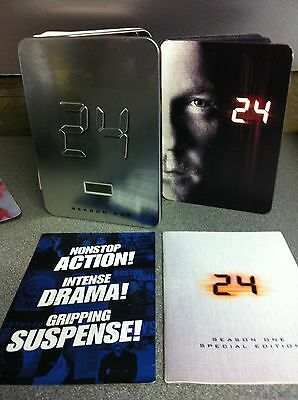 Keifer Sutherand 24 Staffel 1 Us R1 Dvd-Set Selten Limitierte Edition Metall Rs