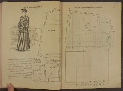 1893 Garment Cutting Diagrams & Patterns Tailors Dressmakers Victorian Clothing