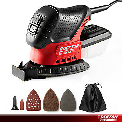 Dekton Mini Mouse Compact Detail Sander with Dust Collection Bag Sanding Tool