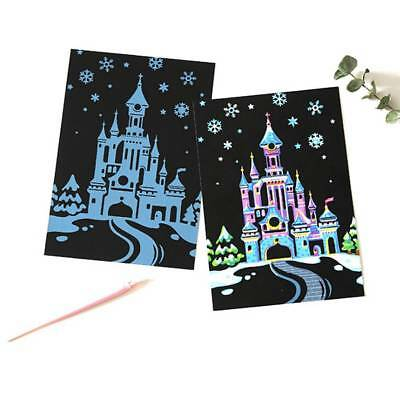 4Pcs/set Colorful Drawing Board Paper Funny Graffiti Painting Scratch Paper