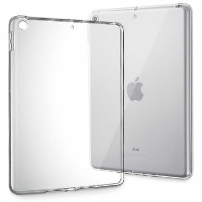 Clear Slim Fit Soft TPU Silicone Back Case Cover For iPad 6th 9.7 2018/iPad Air