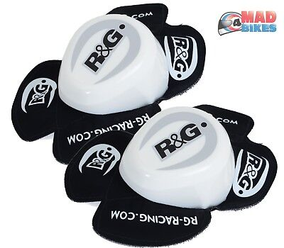 R&G Racing Aero Motorcycle Knee Sliders in White (a pair ) Road, Race Track Day