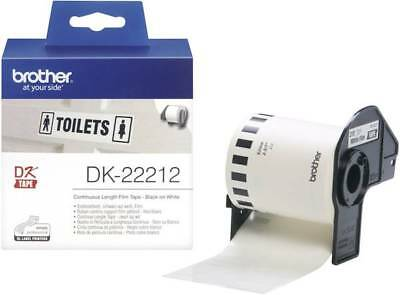 Brother DK-22212 Etiketten Rolle 62 mm x 15.24 m Folie Weiß 1 Rolle(n) Permanent