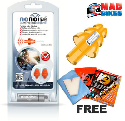 Nonoise Motorcycle Motocross Touring Ear Plugs New Generation Hearing Protection