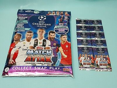 Topps Match Attax Champions League 2018/2019 Starterpack + 10 Booster 18/19