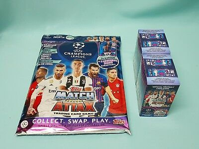 Topps Match Attax Champions League 2018/2019 Starterpack + 60 Booster 18/19