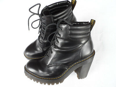 DR MARTENS  PERSEPHONE  Black Leather Ankle Boots-Sz 7 Uk 41 Eu 9 Us ... 9a32b7aecae9