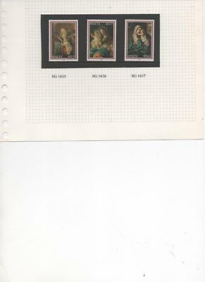 Malta 2009 Christmas issue set of 3 MNH stamps SG 1635-7