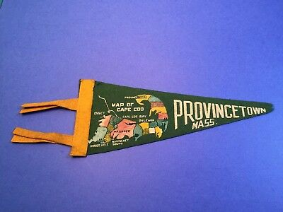 Small Vintage PROVINCETOWN MA Felt Pennant Cape Cod