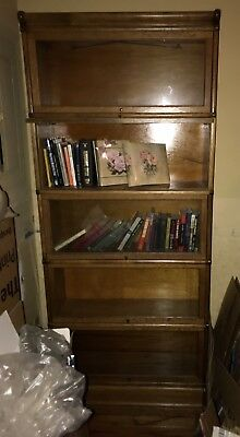 Antique Barrister / Lawyers Bookcase 5 Stack Globe-Wernicke Circa 1910