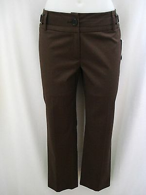 ETCETERA GRAY BROWN COTTON WOOL CUFFED ANKLE PANTS SLACKS sizes 6 8 NEW $185