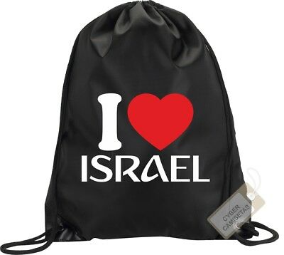 I Love Israel Mochila Bolsa Saco Gimnasio Backpack Bag Gym Israel Sport