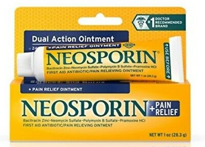 Neosporin First Aid +Dual Action Antibiotic Ointment 0.5oz (14.2g) Fast Delivery