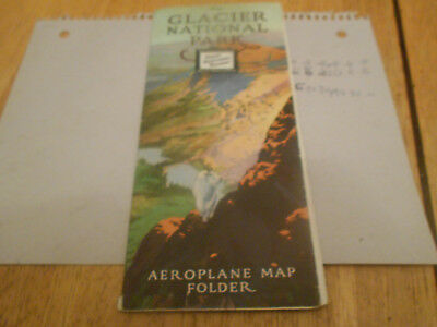 Vintage Original 1916 Great Northern Railway Booklet. Huge Map Glacier Nat Park