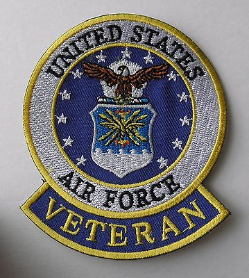 Usaf Us Air Force Veteran Vet Embroidered Patch 3.5 X 3 Inches