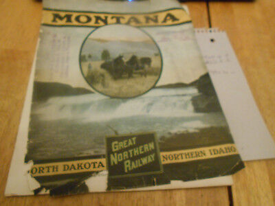 Great Northern Railway 1909 Montana ,north Dakota,norther Idaho Bulletin.