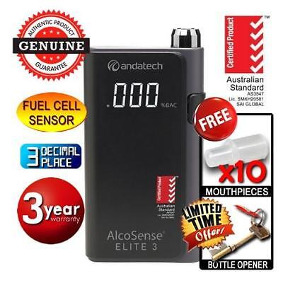Andatech AlcoSense Elite III 3 Personal Alcohol Breathalyser Fuel Cell Accurate