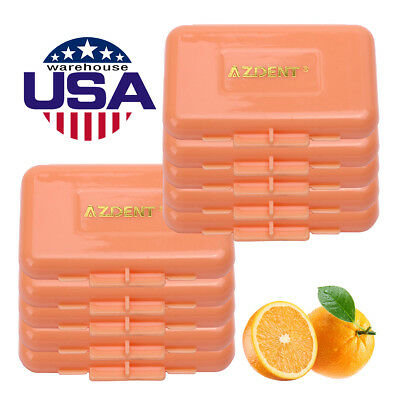 US 200X AZDENT Dental Ortho Braces Relief Wax Orange-Orange Scent For Braces Gum
