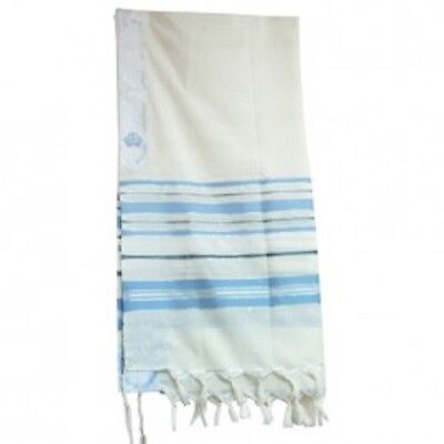 "New Covenant Messianic Tallit Prayer Shawl 72"" 22"" by Bethlehem Gifts TM (Light"