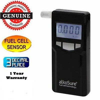 Fuel Cell Breathalyser Portable Personal ALKOSURE Optima F16 Alcohol Breath Test