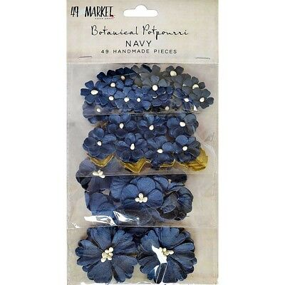 49 And Market Botanical Potpourri Flowers 49/pkg-navy