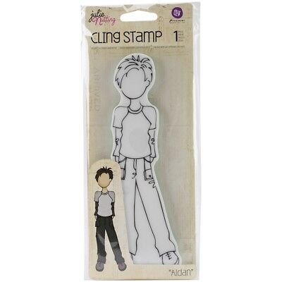 Julie Nutting Stamps Aidan - Cling Mixed Media Rubber Stamps Prima Marketing