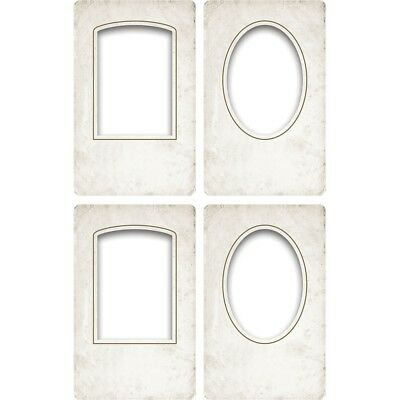 "Tim Holtz Idea-ology 5""x8"" Bookboard Collage Frames 4pcs Th93711 - Ideaology Th"