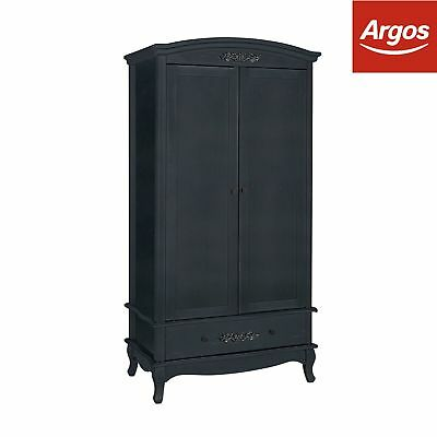 Argos Home Sophia 2 Door Wardrobe - Black