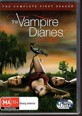 THE VAMPIRE DIARIES The Complete First Season DVD R4 (2010) 5-Disc Set VG