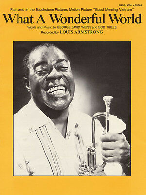 WHAT A WONDERFUL World Sheet Music Piano Vocal Louis Armstrong NEW ...