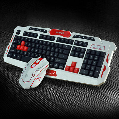 US Stock 4 Colors 2.4G Wireless Gaming Keyboard / Mouse Set Mechanical Keyboard