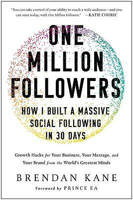 One Million Followers by Brendan Kane Hardcover Book Free Shipping!