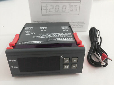 Digital LCD Display Temperaturregler Temperatur Regler Controller Thermostat DE
