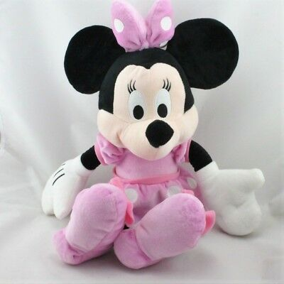 e9cbba0902d42 20917 - Grande Peluche Minnie robe rose à pois DISNEY NICOTOY 45 cm -  Security