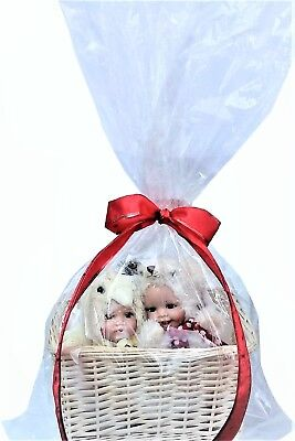 Baby Gift Basket Bag Easter Christmas Large Clear Cellophane Cello Bags