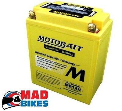Honda XL600V Translap 1987-96 Motobatt MB12U Extension Batterie de Rechange