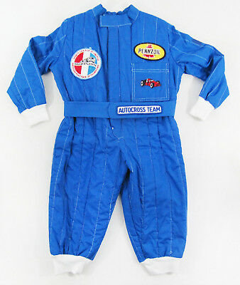 Vintage Hand Made SCCA Road Atlanta Racing Jumpsuit By Shirley Neidel - Size 3T