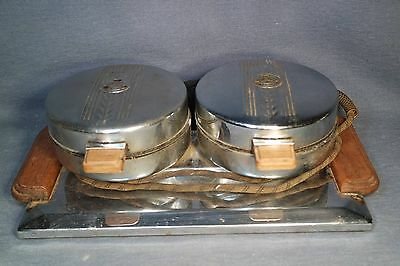 Vintage Dual Round Waffle Maker Dominion Electrical model 590 700 Watts TESTED