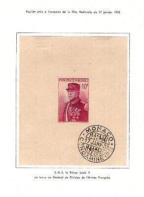 MONACO : BLOC n° 1, Neuf * S.G. = Cote 80 € / Lot Timbres DOM TOM