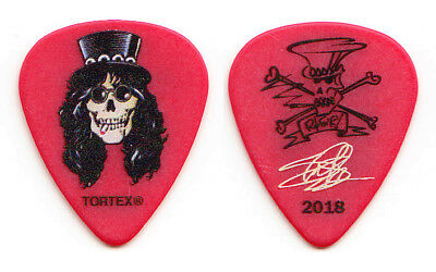 Guns N' Roses Slash Signature Caricature Red Guitar Pick - 2018 Tour GNR