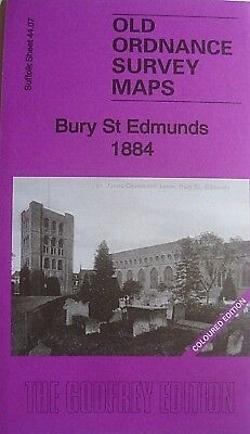 Old Ordnance Survey Detailed Map Bury St Edmunds Sussex 1884 Sheet 44.07