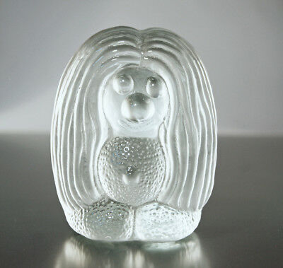 Bergdala Art Glass Sweden - TROLL - Paperweight Briefbeschwerer - 10,3cm - 70´s