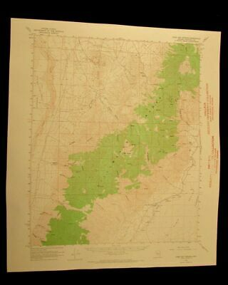 Dixie Hot Springs Nevada 1968 vintage USGS Topographical chart map