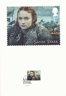 (74236) GB FDC Game of Thrones Souvenir Print 2018