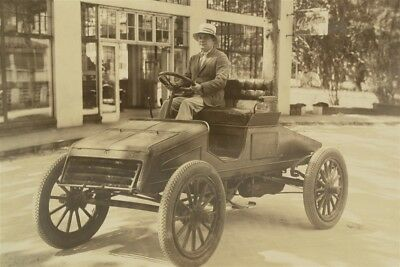 Vintage 1920s Sepia Photo Packard Runabout w/ Driver Car Jacksonville, Florida